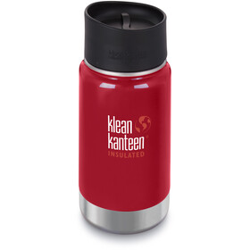 Klean Kanteen Wide Vacuum Insulated Borraccia con tappo per caffè 2.0 355ml, mineral red
